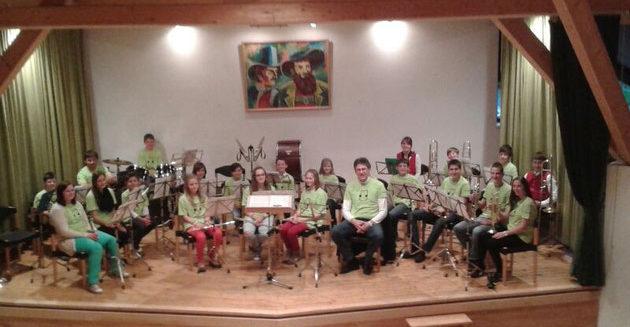 Foto vom Jugendorchester in Obernberg 2016